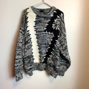 Peter England Vintage Chunky Oversized Sweater